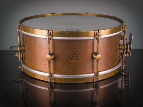 "VK Drums Aged Copper 14 x 5.75"" Snare Drum"
