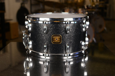 "Gretsch USA Custom 14x8"" Snare Drum in Black Sparkle - 2005Gretsch USA Custom 14x8"" Snare Drum in Black Sparkle - 2005"
