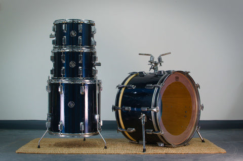 Hoshino (Pre Tama) '5075' Super Deluxe Model Drum Kit in Fine Black
