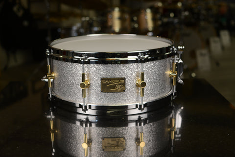 "CANOPUS - Maple/Poplar 14"" x 5.5"" Silver Sparkle Snare Drum - NV60M1-1455"