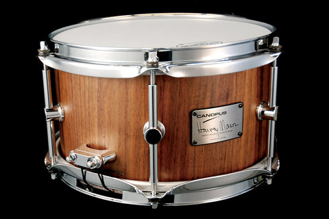 "Canopus Harvey Mason Signature 10"" x 6"" Stave Walnut Snare Drum"