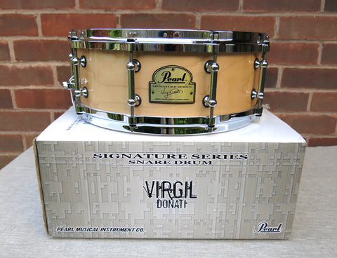 "Pearl Virgil Donati Snare drum - 14""x5"" - Natural Maple"