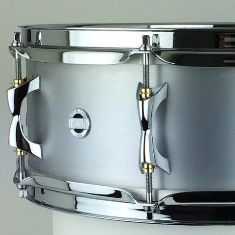 INDe Brushed Aluminium snare drum 14x5