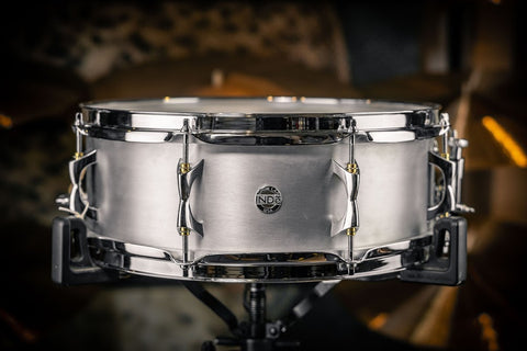 "INDe Brushed Aluminium 14"" x 5"" Snare Drum"