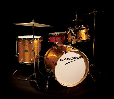 Canopus NeoVintage 1 18x14, 12x8, 14x14 OIL FINISH Drum Kit - NV118OIL