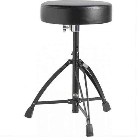 Stagg Drum Throne - Double Braced, Black Finish