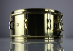 INde Drum Lab - Limited Edition Gold Brass 14x6.5 Snare drum w/Brass Hoops