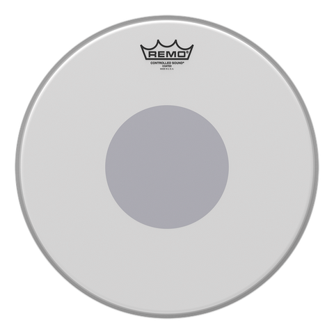 "Remo CS Coated Reverse Black Dot Drum Head 14"" - CS-0114-10"