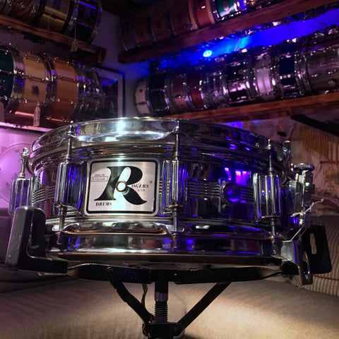 rogers vintage superten 1977 big r badge snare drum
