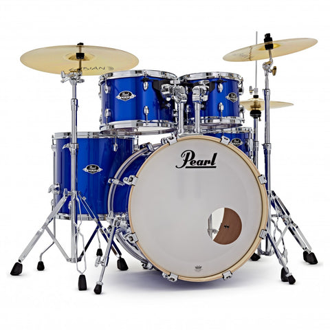 Pearl Export 5-Piece Drum Set with HWP830 and SBR Cymbal Pack - 20/10/12/14/14SD