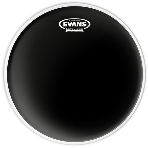 "Evans Black Chrome Drum Head 12"" - TT12CHR"