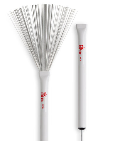 Vic Firth Wire Brushes with White Plastic Handle - VF-WB
