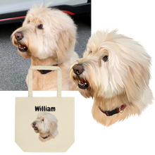 Load image into Gallery viewer, Custome Goldendoodle Dog Tote Bag
