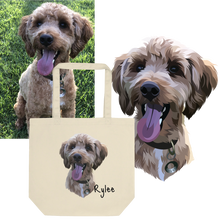 Load image into Gallery viewer, Custom Dog Tote Bag