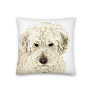 Premium Personalized Illustrated Pet Throw Pillow