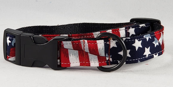 Mirage Pet Products - American Flag Nylon Dog Collar - Medium - RPCS People & Pet Shop