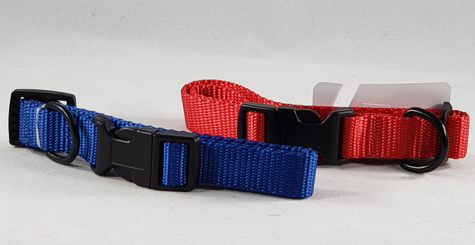 Mirage Pet Products - Plain Nylon Dog Collar - Assorted Colors