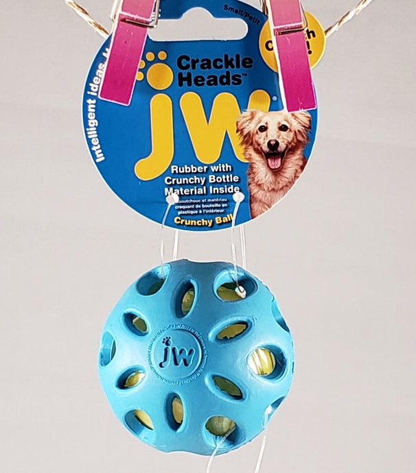 JW Pet - Crackle Heads Ball Dog Toy - Assorted Colors - RPCS People & Pet Shop