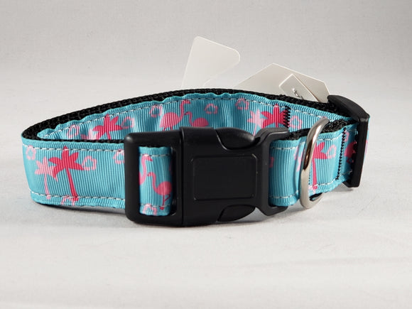 Mirage Pet Products - Flamingo Nylon Dog Collar - Various Sizes - RPCS People & Pet Shop