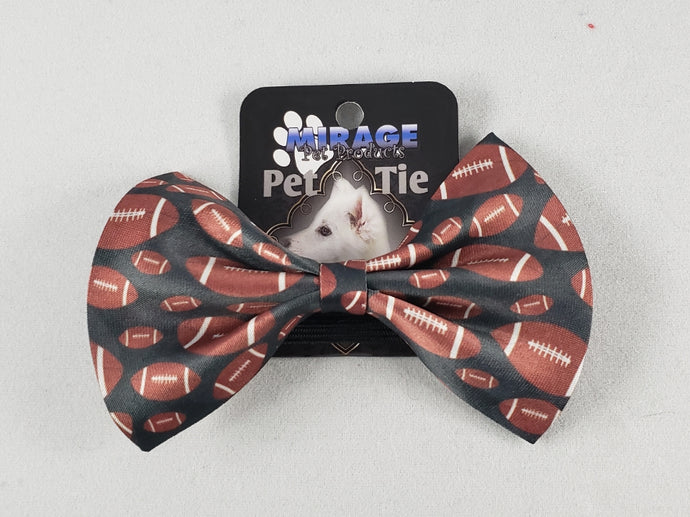 Mirage Pet Products - Footballs Pet Bow Tie - Medium