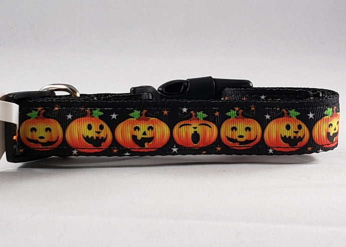 Mirage Pet Products Halloween Pumpkins Nylon dog collar