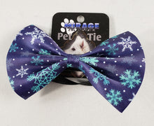Load image into Gallery viewer, Mirage Pet Products - Snowflake Blues Pet Bow Tie - Medium