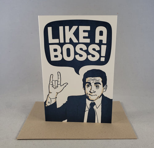 Pike Street Press - Like A Boss Greeting Card - RPCS People & Pet Shop