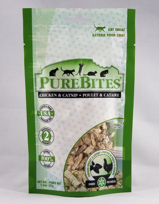 Purebites Chicken and Catnip Freeze Dried cat treat