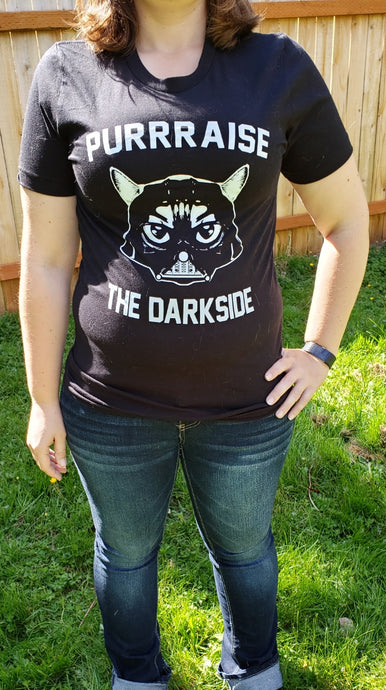 Arm the Animals Purrraise the Darkside Women's over sized tee shirt