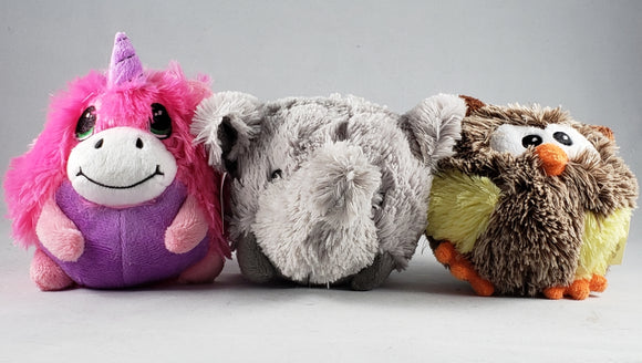 Mirage Pet Products - Roundimal Squeaky Dog Toys - Assorted Critters - RPCS People & Pet Shop