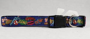 Mirage Pet Products - Superhero Sound Effects Nylon Dog Collar - Various Sizes - RPCS People & Pet Shop