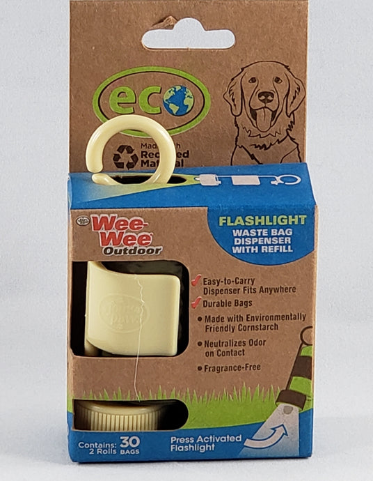 Wee Wee Outdoor Eco Poop Bag Dispenser with Flashlight includes Extra Roll