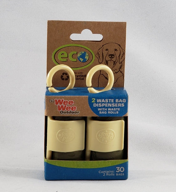 Wee Wee Outdoor Eco Poop Bag Dispenser includes Extra Roll two pack