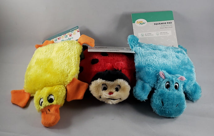 Zippy Paws - Squeakie Pad Extreme Squeak Dog Toy - Assorted Critters - RPCS People & Pet Shop