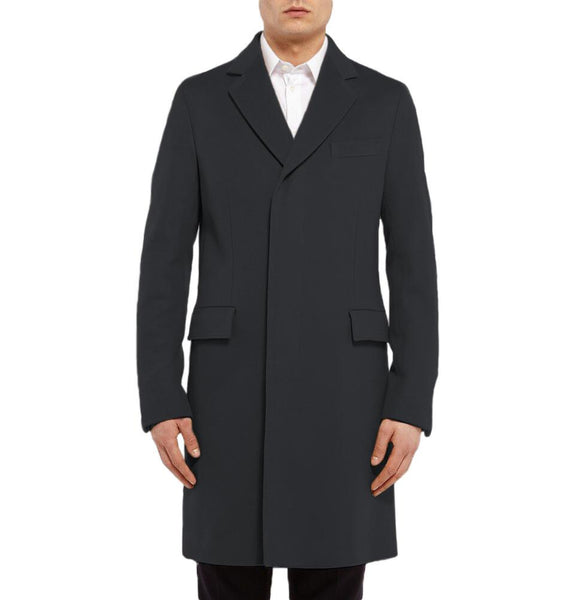 Long Men's Trench Coat Single Breasted Winter Overcoat