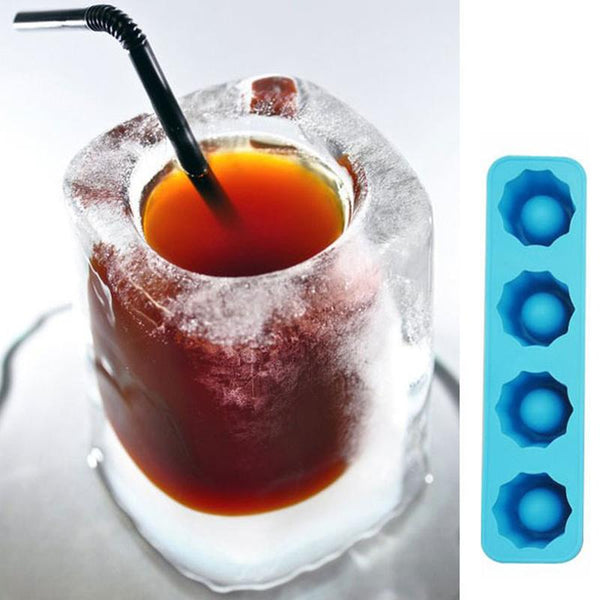 2017 Ice Cube Tray Mold Makes Shot Glasses Ice Mould Novelty Gifts Ice Tray Summer Drinking Tool Ice Shot Glass Mold D0093 - LADSPAD.UK