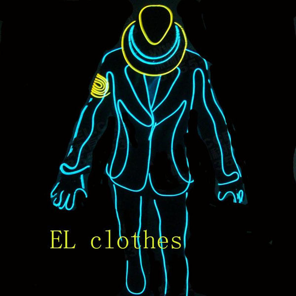 2016 hip hop el wire glowing clothes Shirt Light Up Flashing Equalizer LED T-Shirt Men for Rock Disco  DJ  hip hop for dancing - LADSPAD.UK