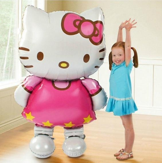 116*65cm large size Hello Kitty Cat foil balloons cartoon birthday decoration wedding party inflatable air balloons Classic toys - LADSPAD.UK