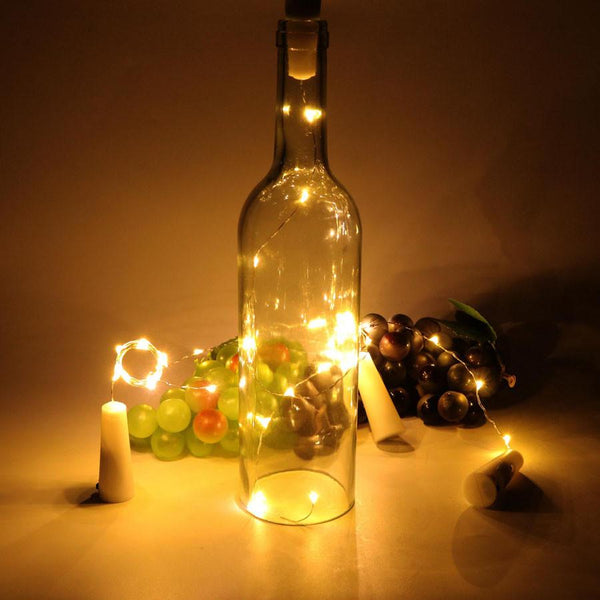 10 LED Copper Wire String Fairy Light With Bottle Stopper - LADSPAD.UK