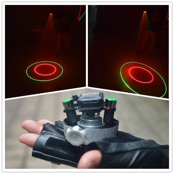 Wholesale Red Green Swirl Laser Mens Gloves
