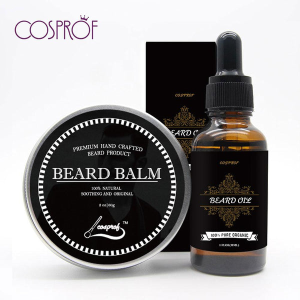 100% Natural Beard Balm Moustache Cream Beard Oil Set - LADSPAD.UK