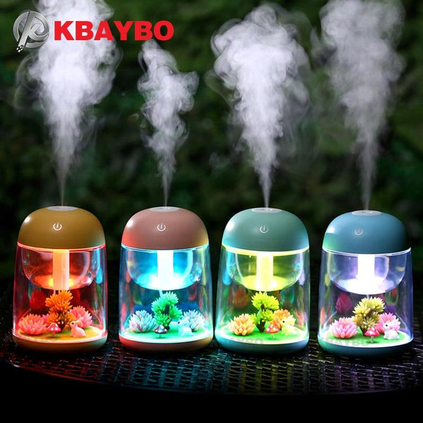 180ml Ultrasonic Air Aroma Humidifier for home LED Lights Aromatherapy Essential Oil Aroma Diffuser - LADSPAD.UK