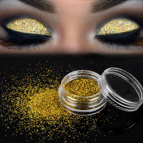 Sparkly Makeup Glitter Loose Powder EyeShadow Gold Eye Shadow Pigment