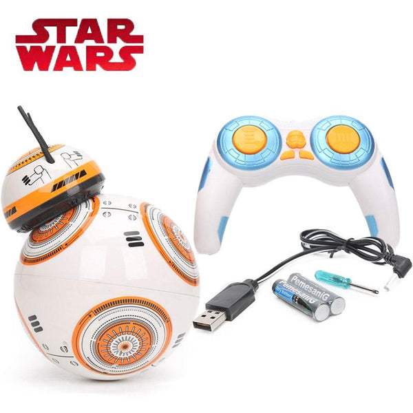 17cm Star Wars Toy RC BB8 Robot 2.4G Upgrade Remote Control Toys BB8 Robot Intelligent with Sound - LADSPAD.UK