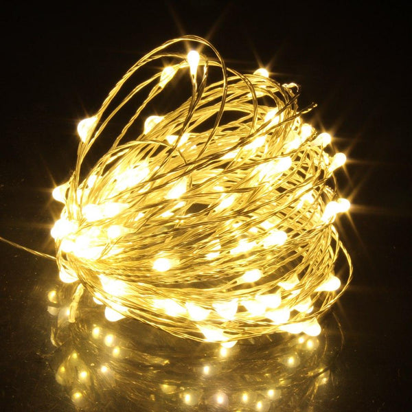 1M/2M/5M/10M Copper Silver Wire LED String lights Holiday lighting For Fairy Christmas Tree Garland Wedding Party Decoration - LADSPAD.UK