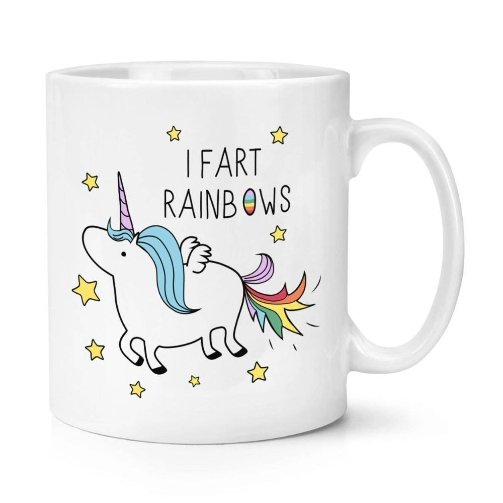 Unicorn Rainbows Mugs Beer Coffee Ceramic Tea Cups Novelty Friend Gift Birthday Gifts