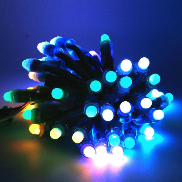 12mm WS2811 Full Color Pixel Module LED Mini bulb Twinkle light DC5V IP68 Waterproof Point Lights For Christmas Tree Decoration - LADSPAD.UK