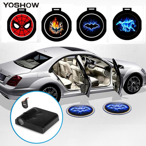1PCS Universal Wireless Led Car Auto Mount Door Projector Lights Welcome Courtesy Light LED Laser Projection Logo Shadow Lamp - LADSPAD.UK