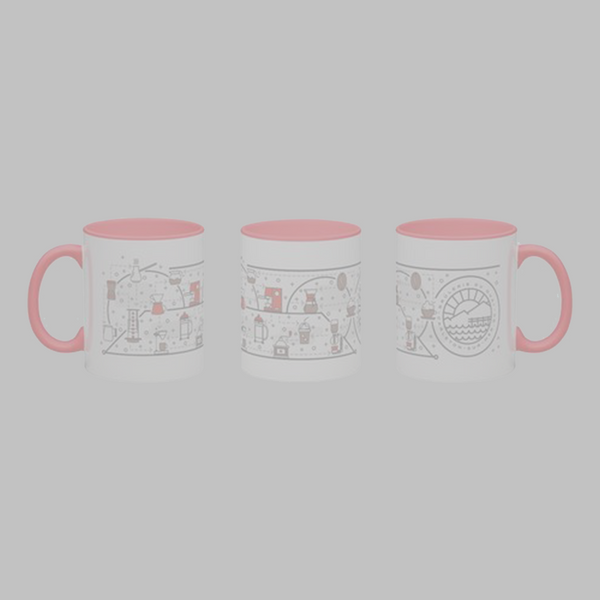 Tasses dessins café Rouge - 12oz
