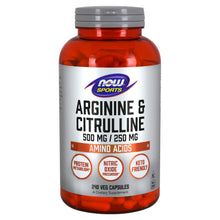 Load image into Gallery viewer, Arginine & Citrulline 500 mg/ 250 mg, Amino Acids, 240 Veg Capsules